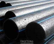 Трубы полиэтиленовые напорные для водоснабжения ПЕ80,  ПЕ100 от произв.